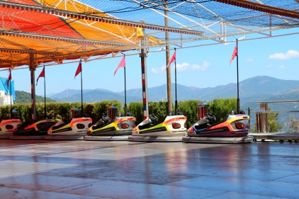 The dodgems wait for customers